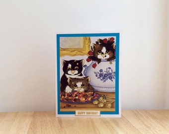 Cat Birthday Card, Cat Card, Handmade Cat Card, Birthday Card, Happy Birthday Card, Cat Art, Cat Greeting Card, Handmade Birthday Card, Cats