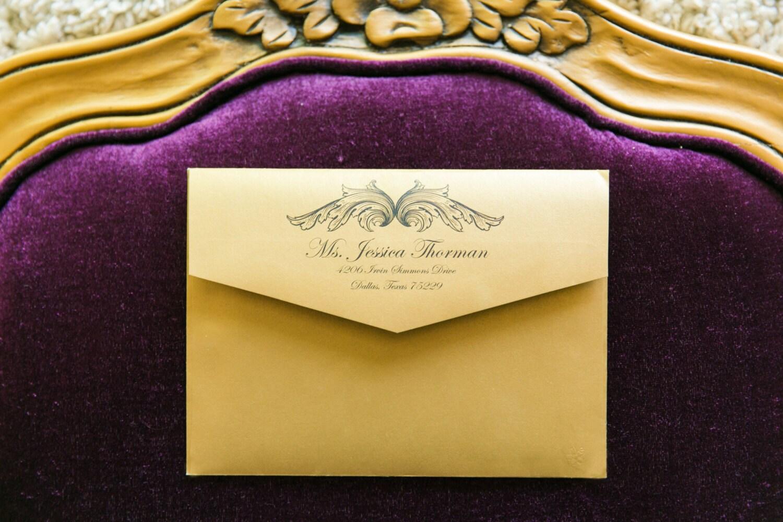 Gold color cardstock paper 5x7 - 5x7 Metallic Gold Black Elegant Vintage New Year S Eve Wedding Invitation With Insert Rsvp And Envelope Return Address Printing