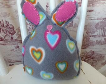 Soft Fleece Bunny Rabbit Toy, Baby Soft Toy, Childs Cuddly Toy, New Baby Gift, Baby Girl Gift, Baby Birthday Gift, Baby Shower Gift