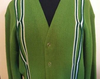 Vintage Green Mod Sweater - M-L
