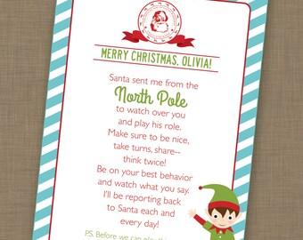 Editable Elf Letter, Note from Elf, Elf Printable, Elf Card, Instant Download, Personalized Elf Letter
