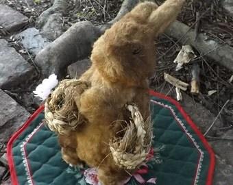 Vintage Large Handmade Rabbit