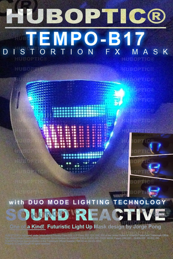 TEMPO-B17 Robot Mask DJ Mask Rave Mask Light Up by HUBOPTIC