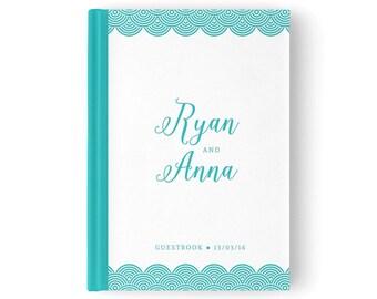 Beach wedding Guest Book, Island wedding, Blue wedding guestbook, Nautical Wedding Guest book, Baby Shower Guest Book, GB 011