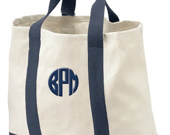 Monogram Tote Bag, Gift Beach Bag, Personalzed Tote, Birthday Gift Bag, Bridal Shower Tote Gift