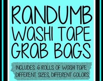 Randumb Washi Tape Grab Bags  | Planner Stickers