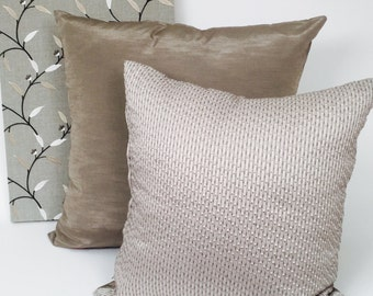 Dotted Taupe Accent Pillow for a Modern Home, Inserts Included P-2-130
