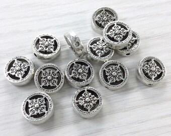 12mm Tibetan  Beads  Antique Silver   Nickel Free Plated Tibetan Silver Tone Beads  Diy supplies