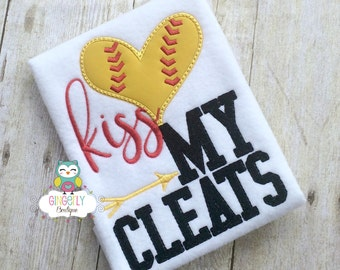 Kiss my Cleats Shirt, Softball Shirt, Baseball Season, Softball Season, Love of Baseball, I Love Baseball, Out of Your League, Baseball
