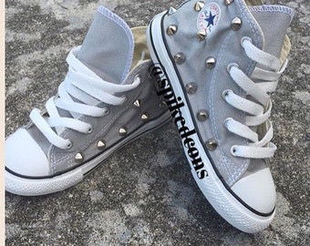SALE*** Light gray studded converse**** **SALE***