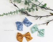 Summer bow clip Set of 3