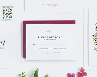 Eloise Collection - Wedding Response Card (Pack of 25)