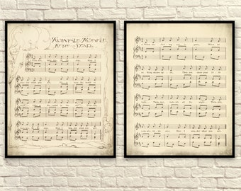 Sheet Music Wall Art sheet music art lullaby sheet music sheet music prints