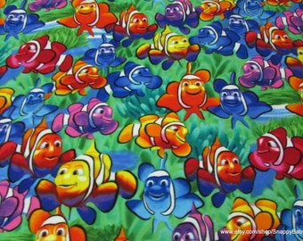 Flannel Fabric - Clown Fish Multi Premium Flannel - 1 yard - 100% Cotton Flannel