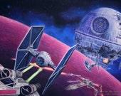 Death Star, X Wing, Tie F...