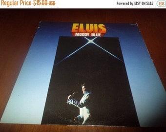 Save 30% Today Vintage 1977 LP Record Moody Blue Elvis Presley RCA Records Near Mint Condition Blue Vinyl 3667