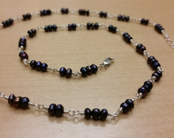 Hand Wrapped Freshwater Pearl Necklace