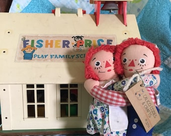 Vintage 1973 emrassing raggedy ann and andy dolls
