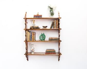 Pine Four Tiered Wall Shelf