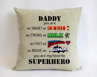 Superhero Father Son Gift First Fathers Day Gift From Son Gift For Son From