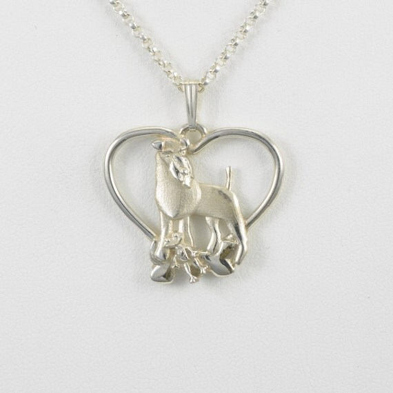 sterling silver kerry blue irish terrier necklace by donna