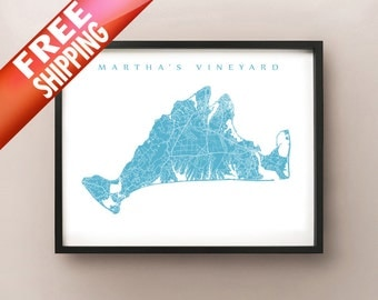 Martha's Vineyard Map Print