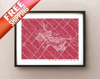 Georgetown Map - Ontario poster art