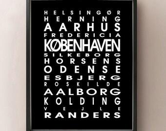 Denmark Bus Roll - Danmark Poster