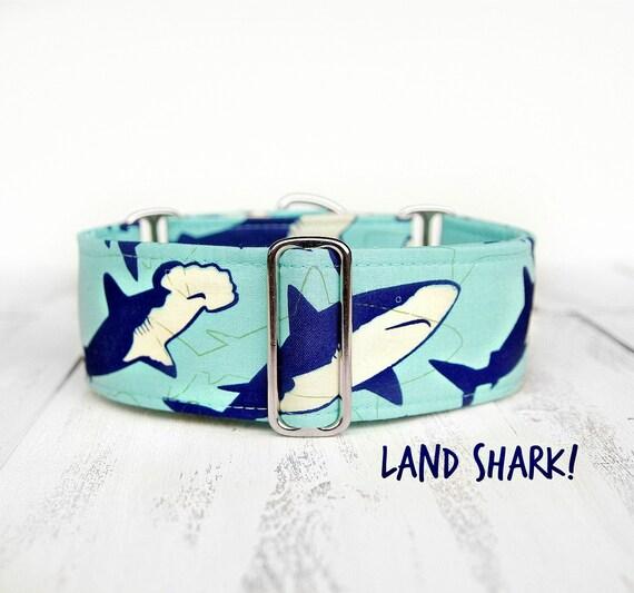Shark Print Dog Collar