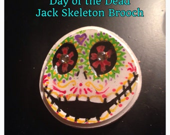 Day of the Dead Jack Skeleton Brooch/Pin