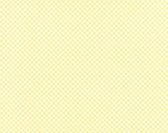 Bespoke Blooms Gingham Yellow - 1/2yd