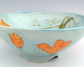 Bowl with California Poppy Design