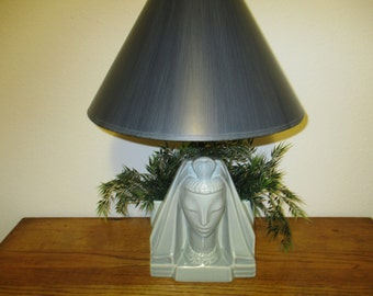 Mid Century Egyptian Princess Ceramic Lamp/without lamp shade