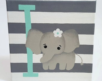 Custom Nursery Decor Art Hand Painted Initial