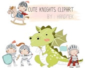Knights  Clipart, dragon clipart Instant Download PNG file - 300 dpi