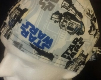 Star Wars Starring R2D2 Tie Back Surgical Scrub Hat