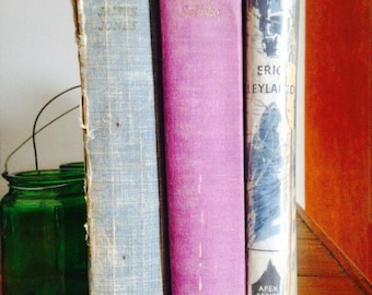VINTAGE BOOK DISPLAY - Blue Purple - From Here To Eternity - Désirée - Mystery at Mardale