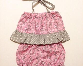 Shorts and ruffled crop top