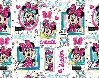Disney Minnie Mouse Windows Fabric From Springs Creative