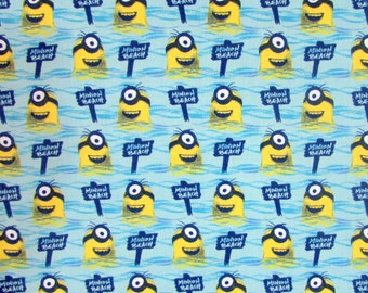 All Natural Beach Minions Fabric From Quilting Treasures