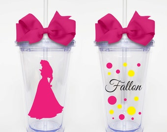 Disney Princess Aurora - Acrylic Tumbler Personalized Cup