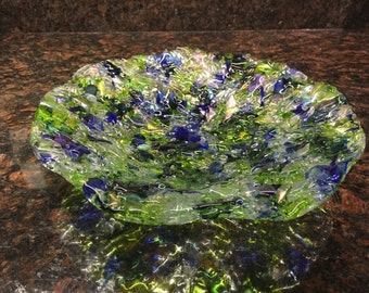Shimmery Fused Glass Bowl