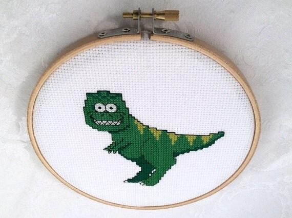 Knitting Room Fond Du Lac : T rex cross stitch pattern pdf dinosaur