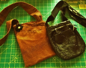 Faux Leather Shoulder Bags, small and medium