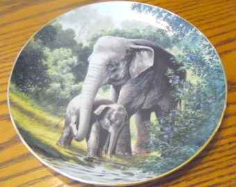Now marked 20% 0ff.  Collector plate~Asian Elephant.  Bradford Exchange & WS George. #5364A.  1989
