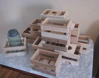 10 Pack No Finish Mini Crates