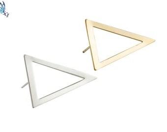 Open Triangle Stud Earrings, Triangle Earrings, Geometric Studs, Modern Earrings, Everyday Wear, Minimalist Jewelry, Simple Studs, GFER67
