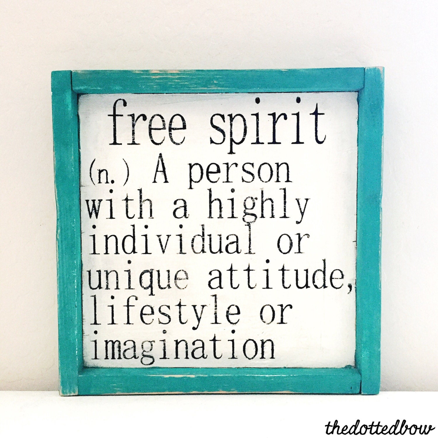 Free Spirit Definition Wood Sign by thedottedbow on Etsy