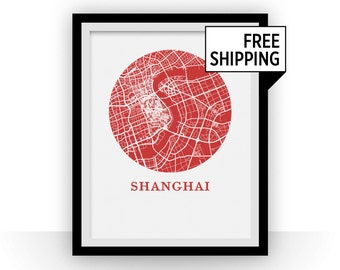 Shanghai Map Print - City Map Poster