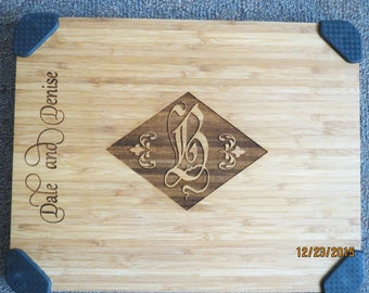 Personalized cutting board, Hand crafted gift, Wood carved cutting board, Monogrammed gift